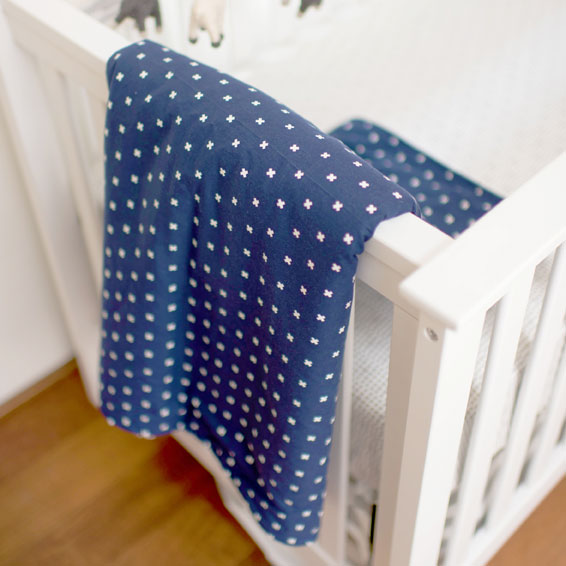 Navy Faux Fur Baby Blanket | Laguna Baby Crib Collection