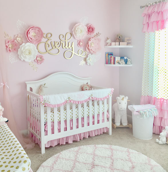 Pink Gold Nursery | Pink and Gold Nursery