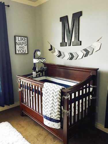 Crib Bedding Baby Boy Rooms: Gray Nursery Inspiration