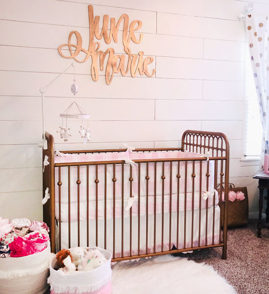 buffalo plaid nursery | pink buffalo plaid baby bedding