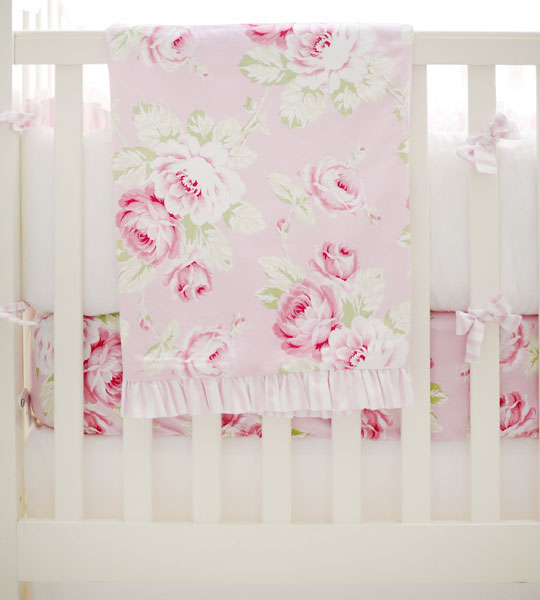 Pink Baby Blanket | Pink Desert Rose Crib Collection