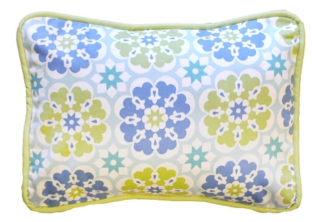 Blue Pedal Pusher Throw Pillow