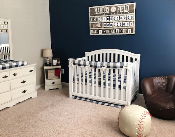 Baseball Nursery & Baseball Themed Nursery & Vintage Baseball Nursery