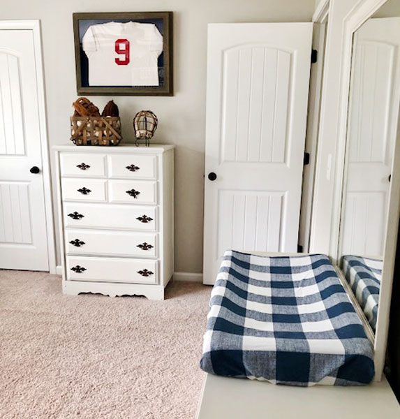 baseball nursery room design