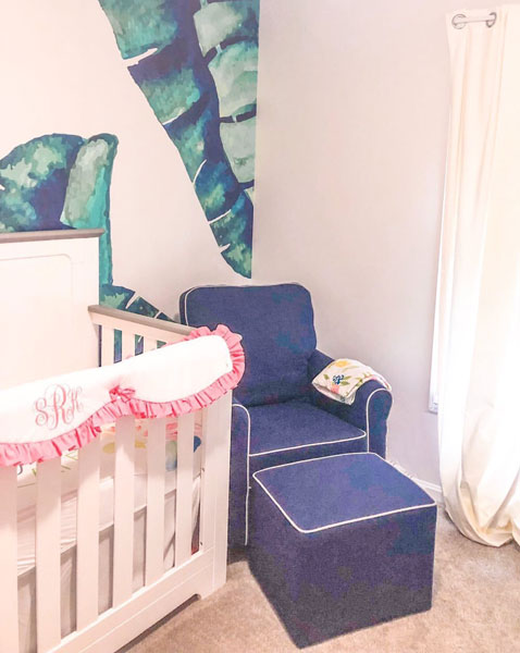 tropical baby nursery