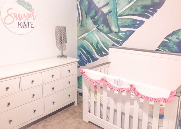 nursery room design girl