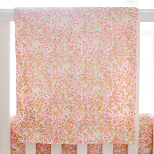 Gold and Coral Baby Blanket | Shimmer Reflections Crib Collection
