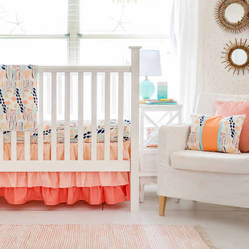 Peach Nursery Rail Guard Set Summer Grove Ii Collection Tap To Expand