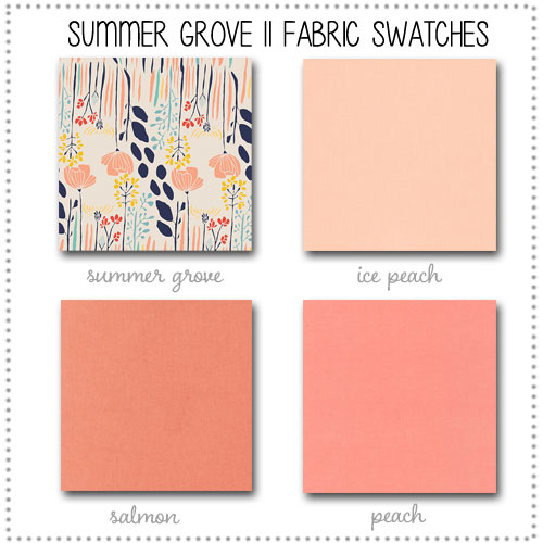 Summer Grove II Crib Collection Fabric Swatches Only