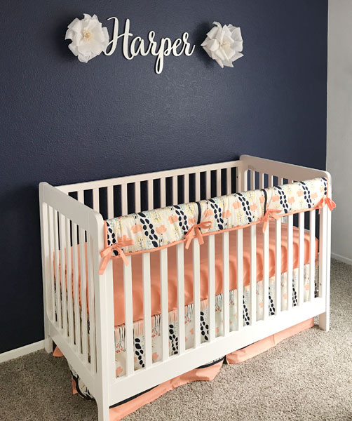 And This Baby Nursery We Are Absolutely In Love With For Harper Features Our C Navy Summer Grove Crib Bedding