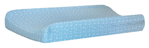 Aqua Arrow Changing Pad Cover | Oh Hello Fog Crib Collection