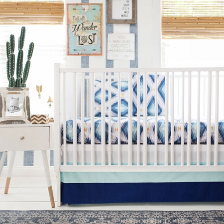 Bedding Wander In Blue Crib Collection Tap To Expand
