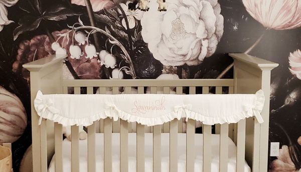 floral wallpaper for nursery