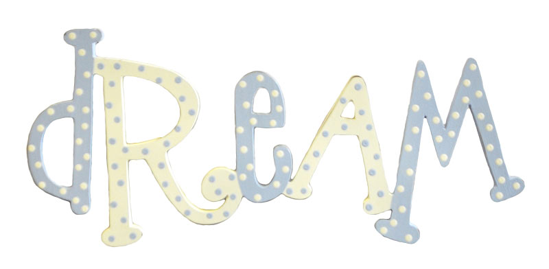 Dream Nursery Sign Wall Word Babys Room