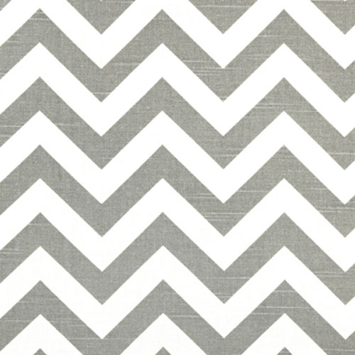 Chevron Fabric in Gray | Zig Zag in Slate