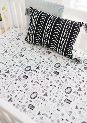 Black Baby Bedroom Sets: Black And White Crib Bedding
