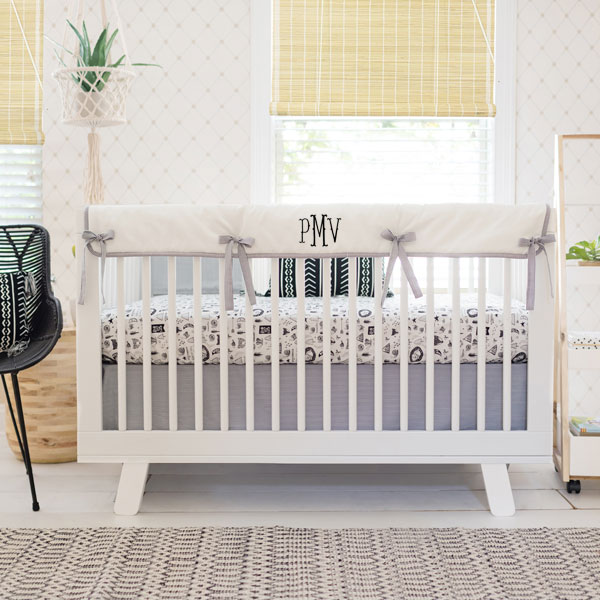Black and White Nursery Set | Adventure Awaits Collection