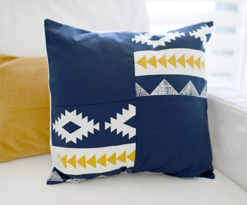 Aztec Patch Pillow | Arid Horizon Crib Collection