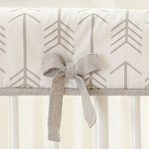 Khaki Arrow Crib Rail Cover | Be Brave Collection