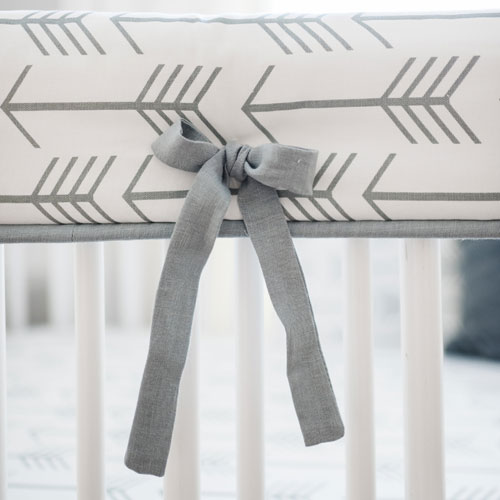 Gray Arrow Crib Rail Cover | Be Brave in Gray Collection