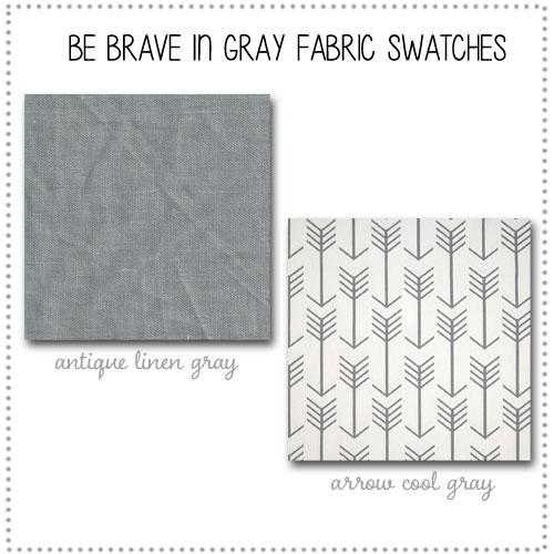 Be Brave in Gray Crib Collection Fabric Swatches Only