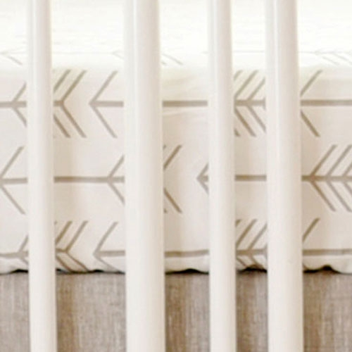 Neutral Arrow Crib Sheet | Be Brave Collection