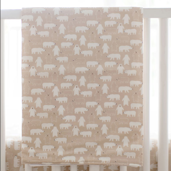 Woodland Crib Blanket | Bear Hug Collection