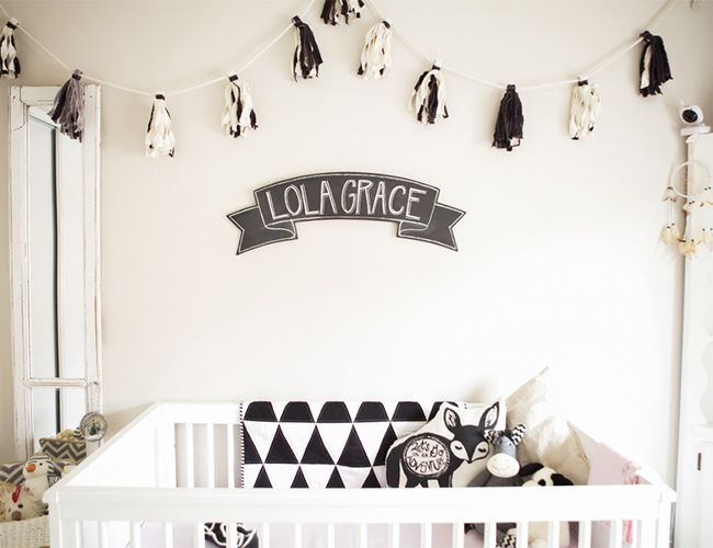 Black And White Nursery Inspiration