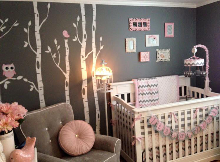 Picanco Silva On Winning Our My Baby Sam Nursery Contest Her Is Adorable And Features Chevron In Pink Bedding