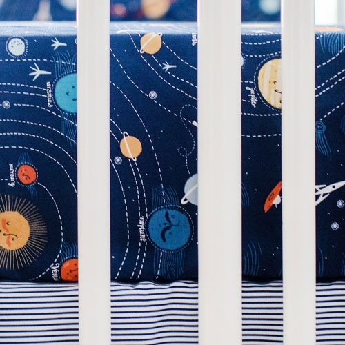 Galaxy Crib Sheet | Blue Moon Bedding Collection