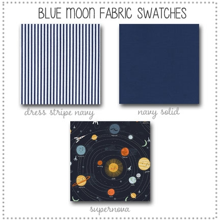 Blue Moon Bedding Collection Fabric Swatches Only
