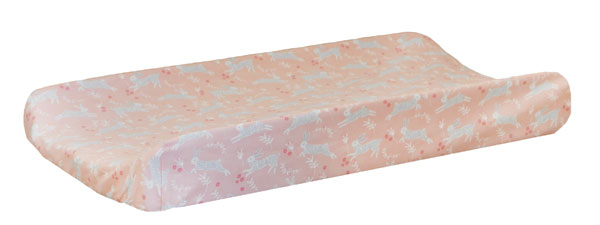 Peach Changing Pad Cover | Bunny Hop in Peach Crib Collection