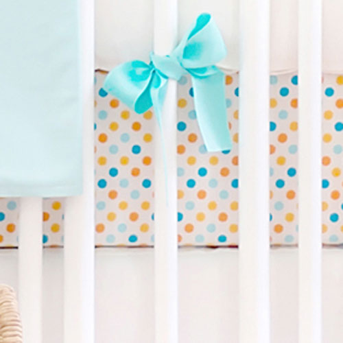 Polka Dot Crib Sheet | Carnival Collection