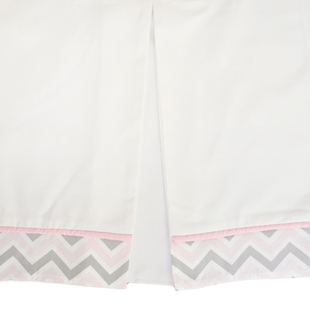 Peace, Love and Pink Crib Skirt