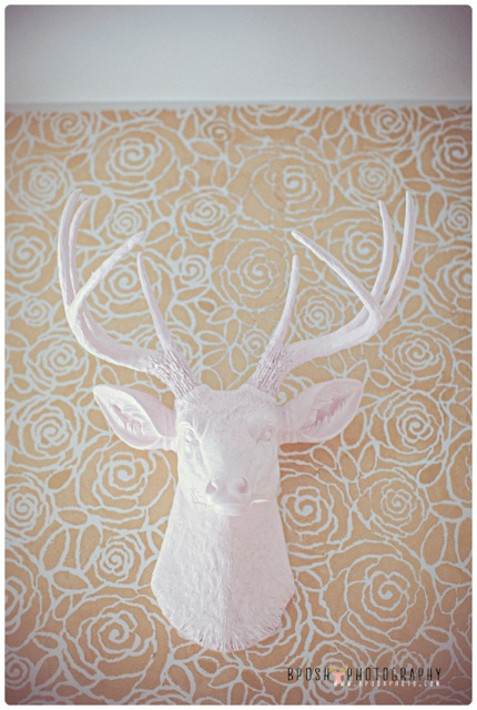 faux deer wall