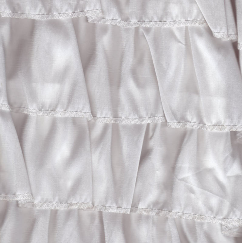 Taffeta Dreamy Ruffles in White Fabric