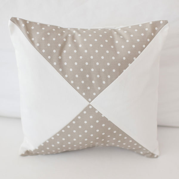 Ecru and White Polka Dot Pillow | Animal Parade Crib Collection