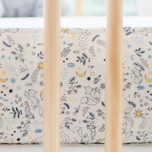 Woodland Crib Sheet | Fox Tales Crib Collection
