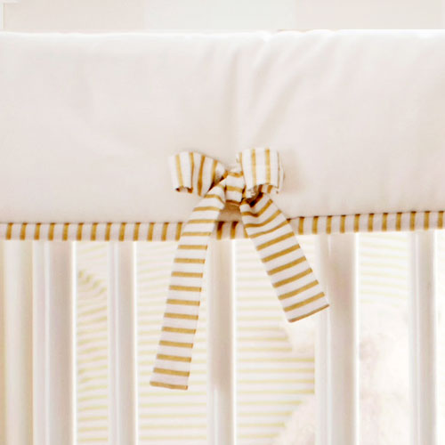 White and Gold Crib Rail Cover | Gold Dust Collection