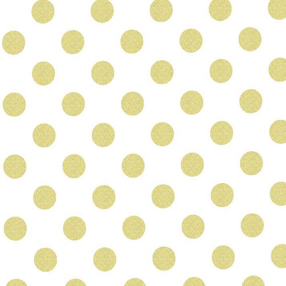Gold Polka Dot Fabric by Michael Miller