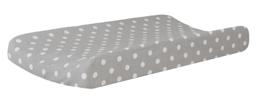 Gray Polka Dot Changing Pad Cover
