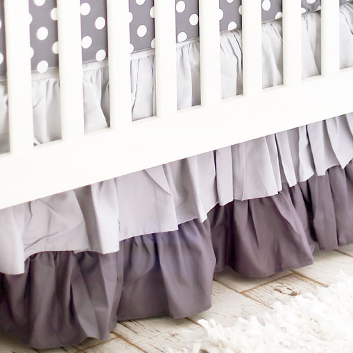Gray Dust Ruffle 3 Tier