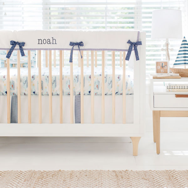 Nautical Baby Bedding | Hook Line Sinker Crib Rail Collection
