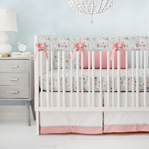 Coral Nursery Rail Cover Set | In the City Collection