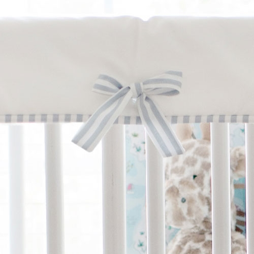 White and Gray Crib Rail Cover | Island Hopping  Collection