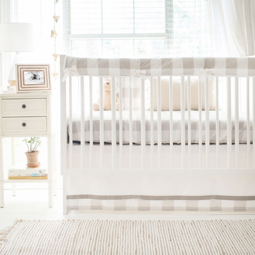 Khaki Buffalo Plaid Baby Bedding Crib Collection