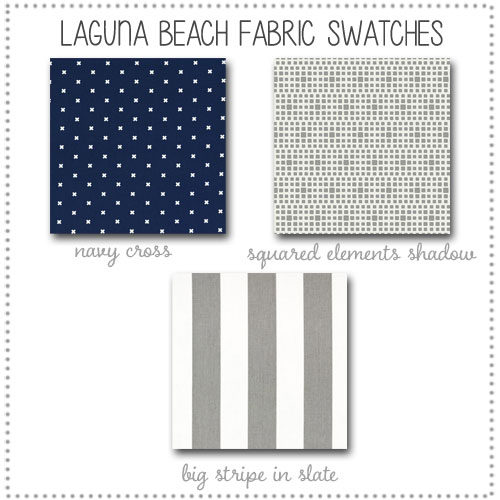 Laguna Beach Crib Bedding Collection Fabric Swatches Only