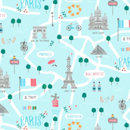 Dear Stella Design Le Map Capri Fabric