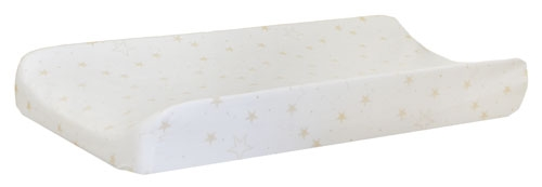 Gold Star Changing Pad Cover  |  Lucky Star Crib Collection
