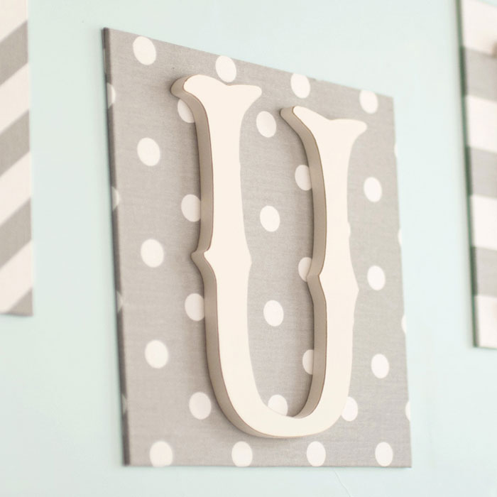 Love Fabric Wall Letters